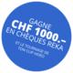 Gagnez CHF 1'000.- en chèques Reka