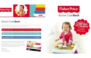 Profitez de CashBack sur les jouets Fischer-Price