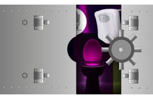 Gagnez une lumière LED pour WC