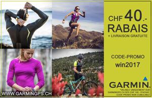 Code promo GARMIN de CHF 40.- + livraison gratuite