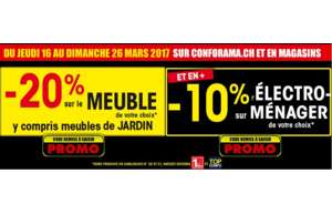 -20% de rabais sur le meuble de votre choix & 10% sur l'électro-ménager