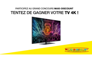 Gagnez un téléviseur 4K