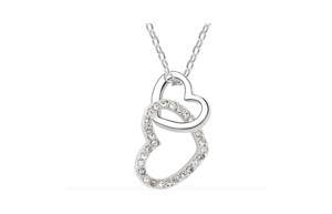 Gagnez un collier avec 2 coeurs et cristaux, d'une valeur de CHF 99.-