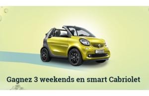 Gagnez un des 3 week-end en smart cabriolet